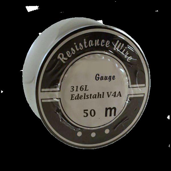 50 Meter 0,16mm Edelstahl V4A Draht