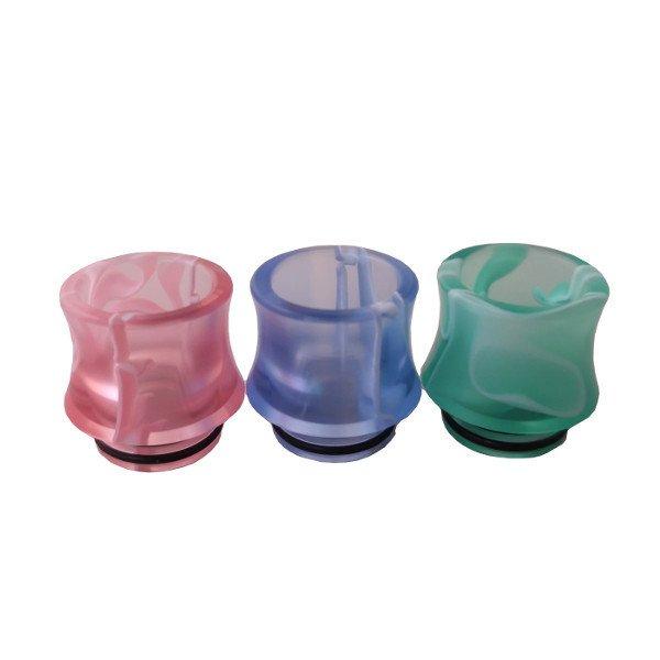 Durchsichtiges Buntes Resin Drip Tip 810